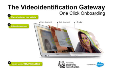 One-Click Onboarding, Video Identification at one click