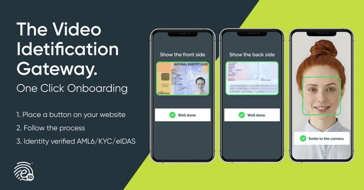 One Click Onboarding, Video IDentificación en 1 clic