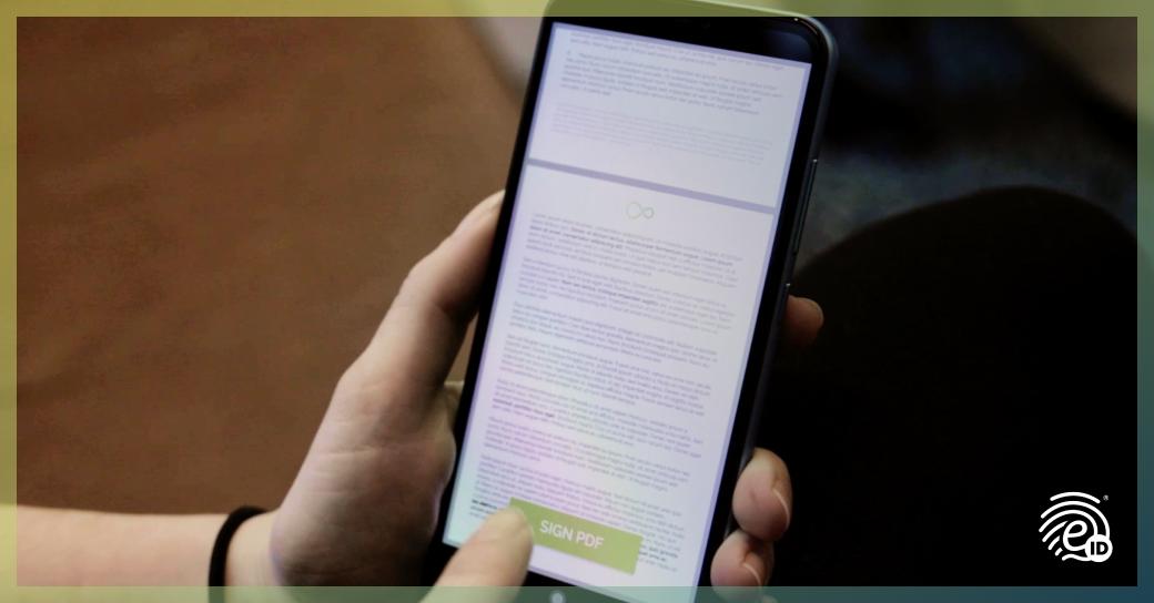 Elektronisches Zertifikat bei Vertragsabschluss mit NFC